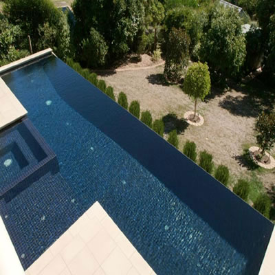 Home and garden lap pool design for Pool negative edge design