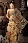 BrownNetWeddingsarees2012