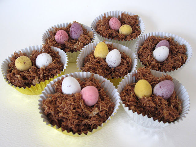 chocolate easter nests homemade