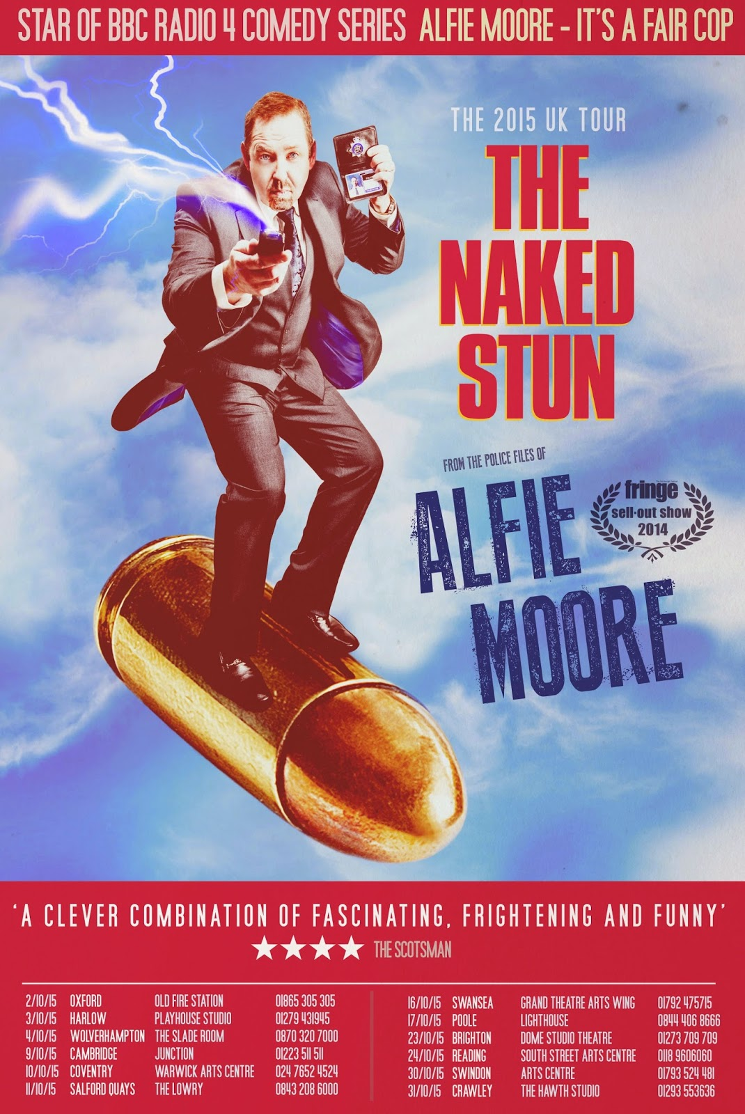 Alfie Moore - The Naked Stun UK Tour 2015 - ticket and dates