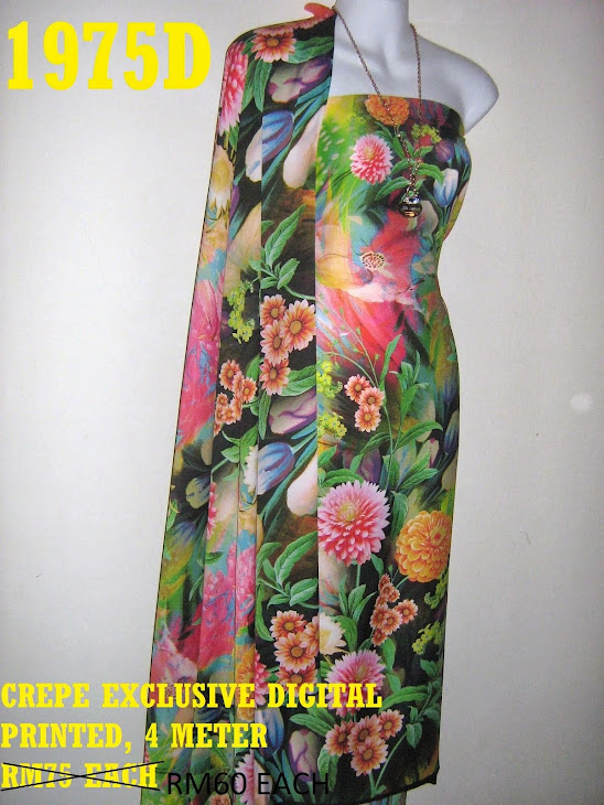 CDP 1975D: CREPE EXCLUSIVE DIGITAL PRINTED, 4 METER