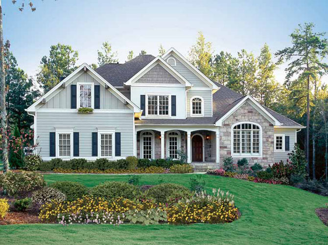 Charming Beautiful American House Design By GX Style ~ Home Designs