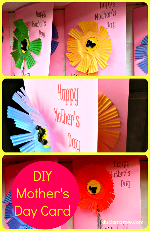 Diy mother 39 s day card for preschoolers ducks 39 n a row for Mothers day cards from preschoolers