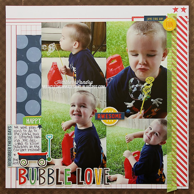 Echo Park_Little Boy_Scrapbook Page_Bubbles