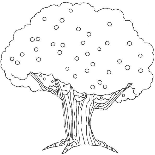 Perfecto Página Para Colorear De árbol De Manzana Fotos - Ideas Para ...