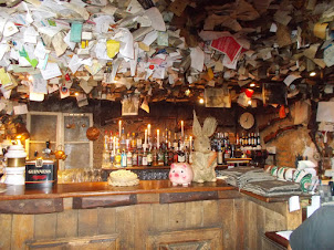 """Interior decor of  the bar of """"FOR SALE PUB"""" in Budapest. Just classic."""
