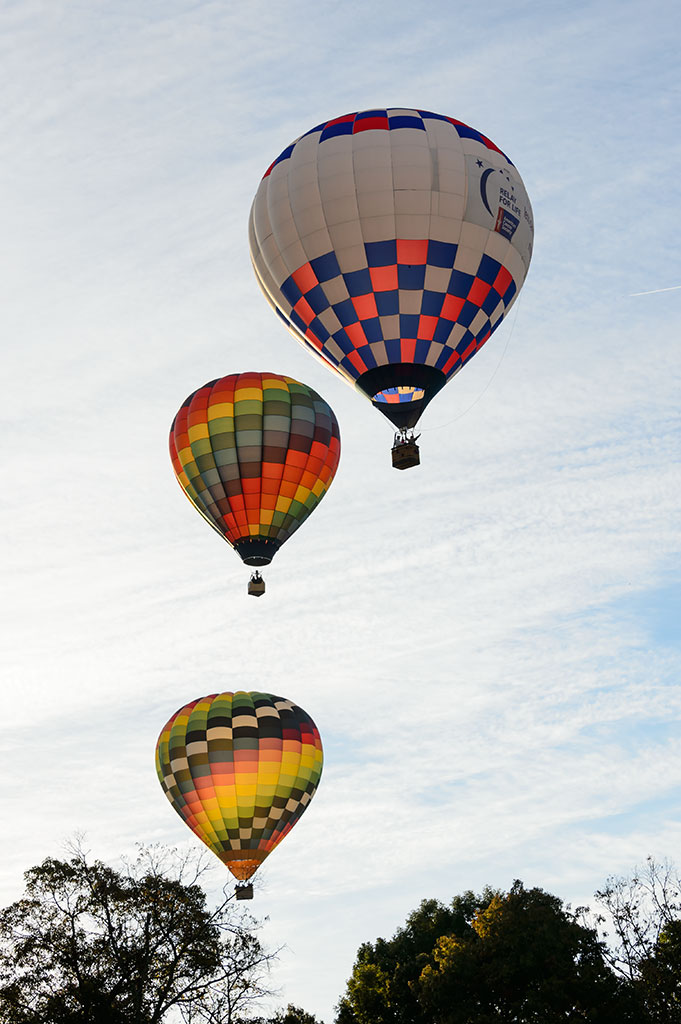 Floating Hot Air Balloons at Carolina BalloonFest