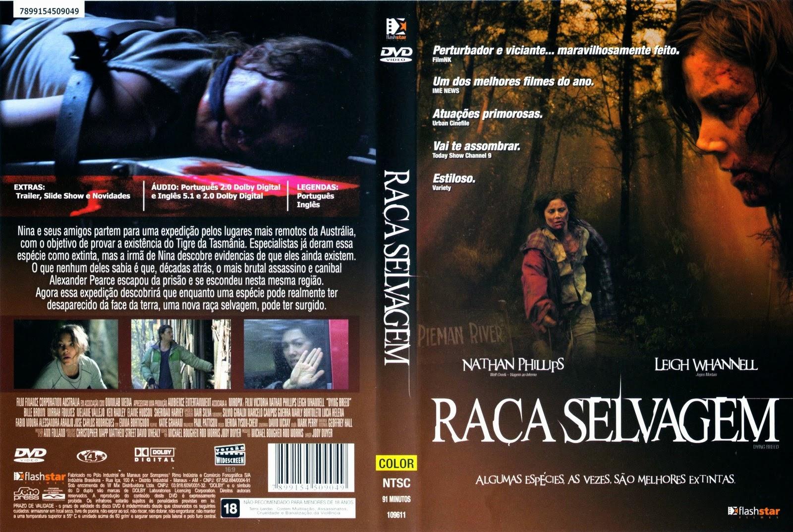 Raça Selvagem DVD Capa