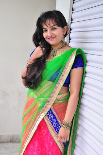 New actress Roshini half saree Picture shoot 035.jpg