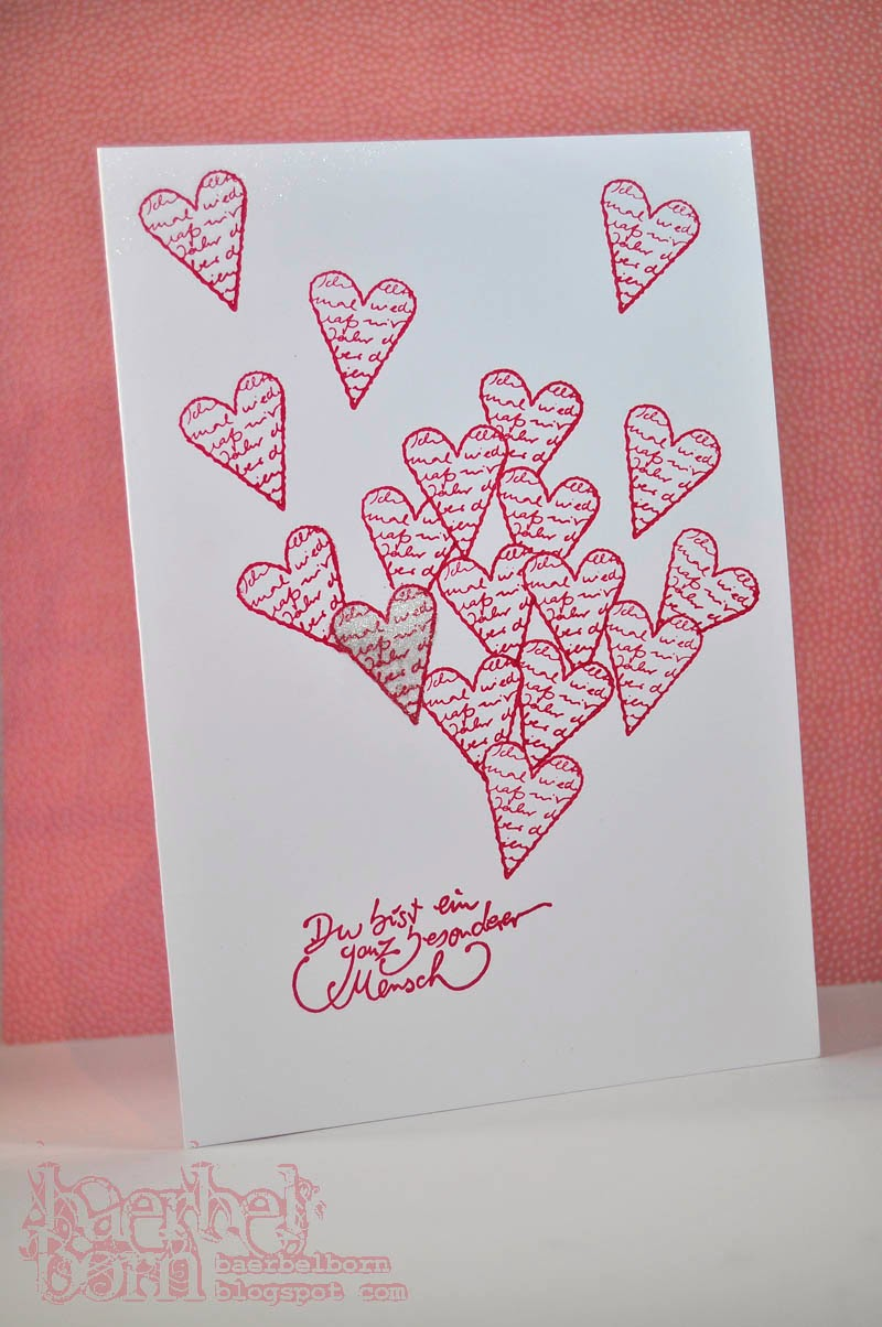stamping with hearts for your loved ones