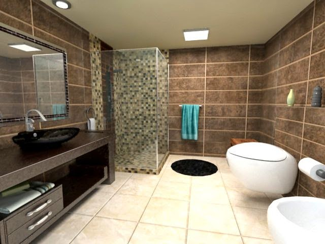 Diseno De Baño Moderno Pequeno:Diseñar Baños modernos y Coloridos – ArQuitexs