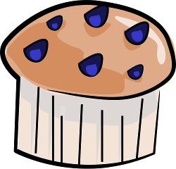 Blueberry Muffin Clip Art Images & Pictures - Becuo
