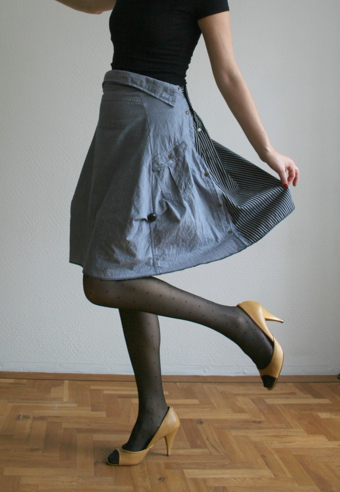 Как сшить юбку из рубашки 65