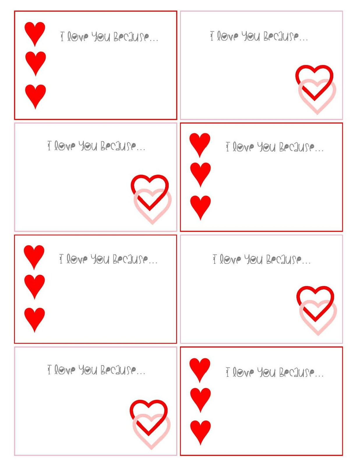This is a graphic of Crafty Printable Love Notes