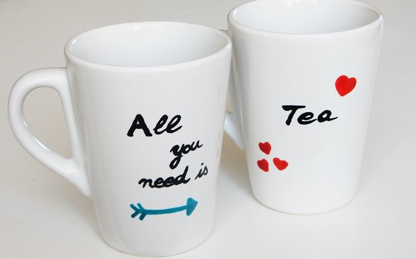 DIY : duo de tasses à thé