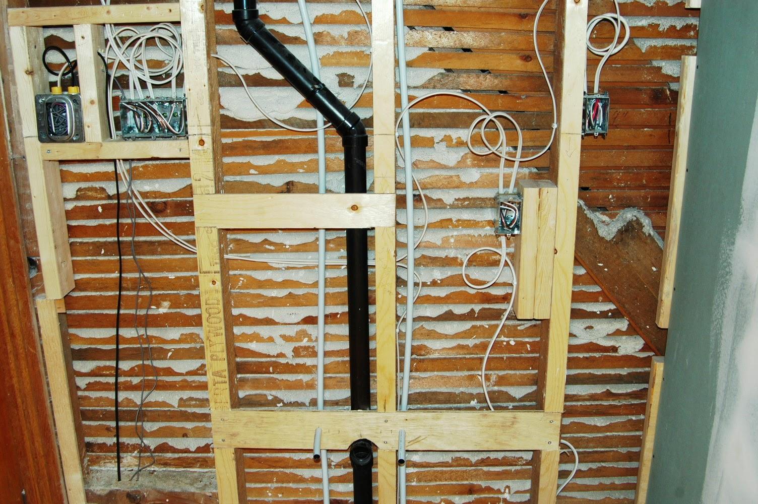 Bathroom Vanity Light Rough In field house chronicles: main bathroom renovation - part seven