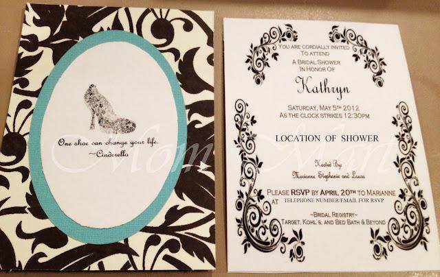 Cinderella Invitaion