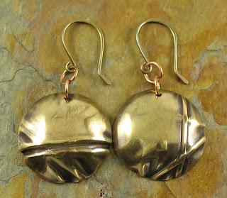 Fold-Formed Brass Earrings