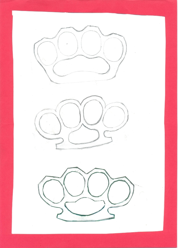 Weaponcollectors knuckle duster and weapon blog brass knuckles simple brass knuckles knuckle duster and trench knife templates designs blueprints and ideas all available free to download and use for personal or malvernweather Image collections