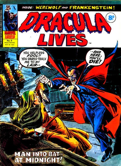 Marvel UK Dracula Lives #6
