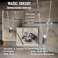 """Warszawa, Kobiałka  Naszyjnik  """"Ważki sekret"""""""