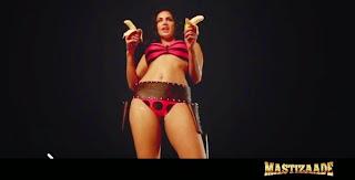 Sunny Leone Enjoying Bikini and Banana in Mastizaade Movie Item Sex Songs