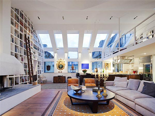 This Exceptional Penthouse Loft, Spotted Over At Lagerlings, Is Located In  Östermalm, A City Districtof Stockholm, Sweden. The Home Features A Unique  Volume ...