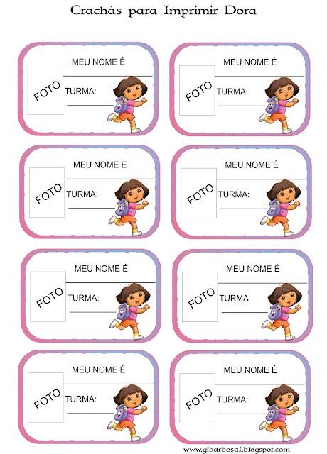 Crachás para Imprimir Dora e Diego