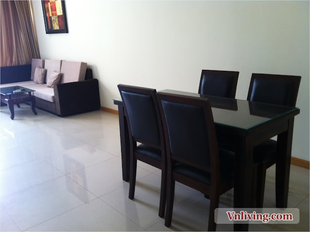 Saigon Pearl apartment for rent in Topaz Tower with 2 bedrooms furnished