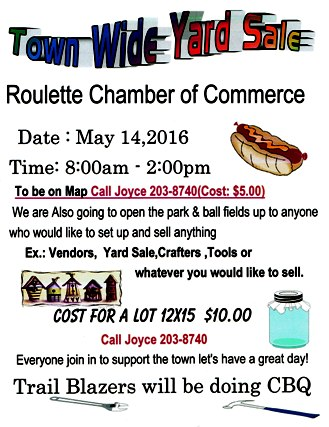 5-14 Roulette Town Wide Yard Sale