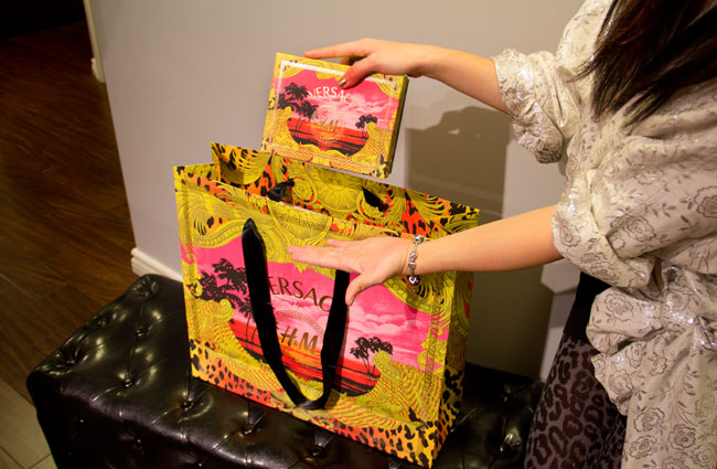Versace for H&M, Versace for H&M shopping bag, Versace for H&M box