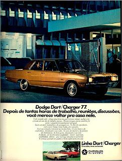 propaganda Linha Dart / Charger - 1976.  reclame de carros anos 70. brazilian advertising cars in the 70. os anos 70. história da década de 70; Brazil in the 70s; propaganda carros anos 70; Oswaldo Hernandez;