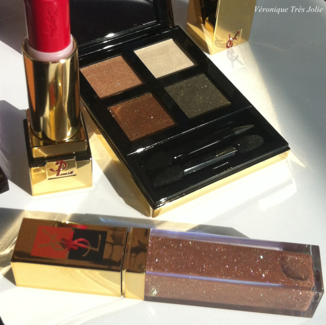 Yves saint laurent ysl summer collection 2012 terre saharienne collector 2 sunkissed pure chromatics 8 sand golden gloss golden shell rouge pur couture rouge madras la laque couture taupe retro beige leger dore orfevre corail colisee mascara volume effet faux cils waterproof majorelle blue eye pencil swatch swatches