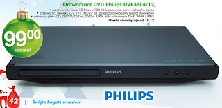 Odtwarzacz DVD Philips DVP3804 Biedronka ulotka
