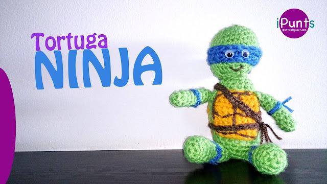 tortuga ninja amigurumi patron ganchillo crochet ipunts