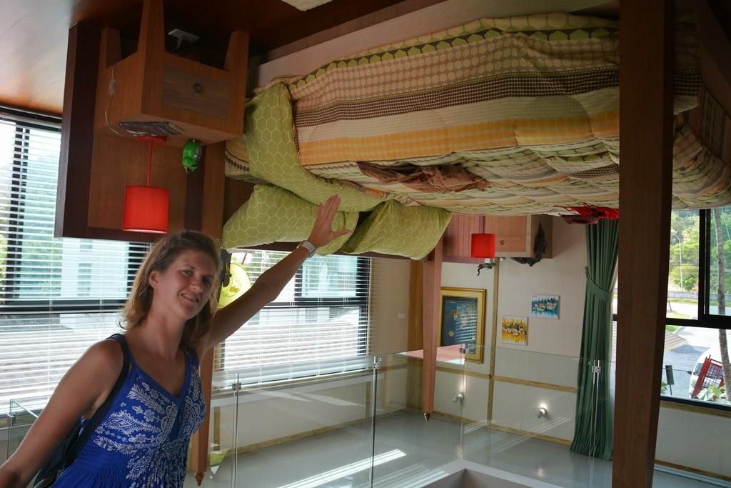 Upside down house Phuket bed