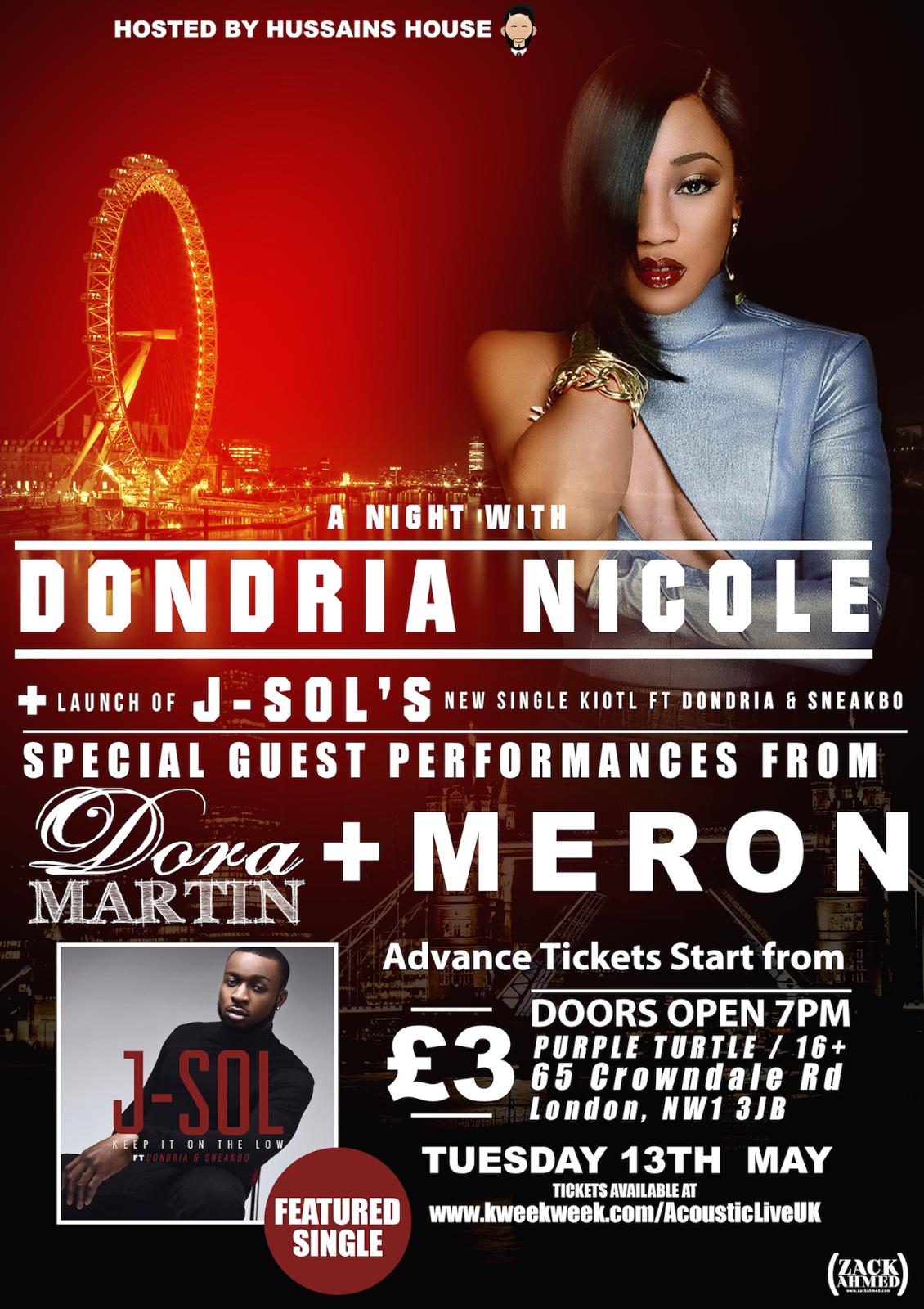 So So Def Dondria LIVE in the UK