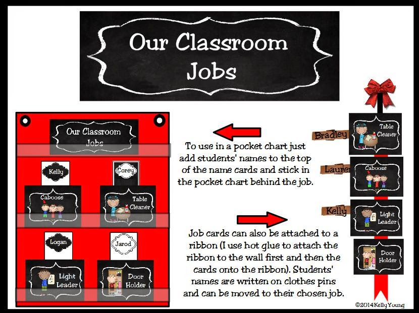 http://www.teacherspayteachers.com/Product/Classroom-Leaders-Job-Cards-Chalkboard-Theme-1055593