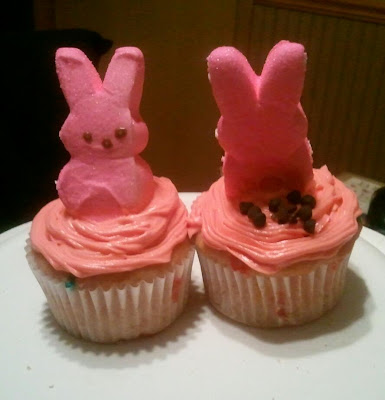 Bad Bunny Cupcakes, Easter Cupcakes