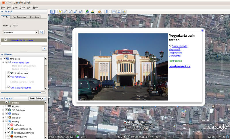 Google Earth 6.0.2 di Ubuntu 10.10 Maverick Meerkat