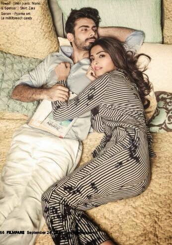 Sonam Kapoor and actor romance on the pages of the Filmfare magazine