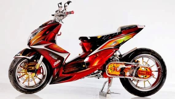 Foto Modifikasi Motor Yamaha Mio Soul