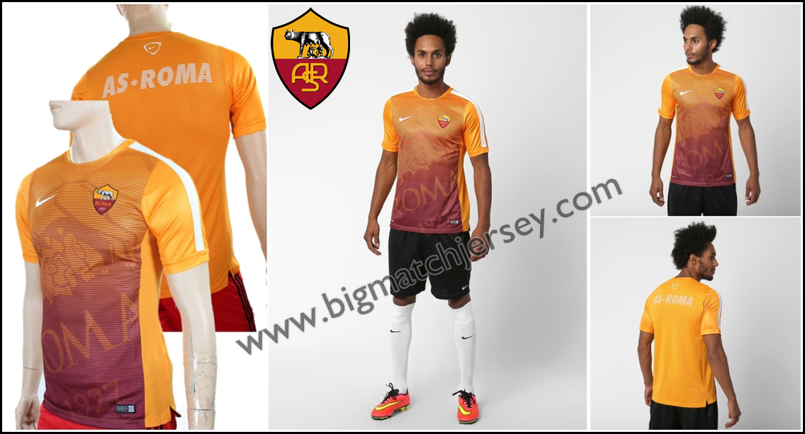 Pré-Match AS Roma Nike Orange - 2015