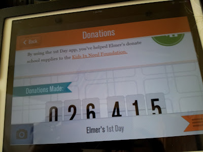 For every photo uploaded, Elmer's 1st Day app provides a donation to Kids In Need