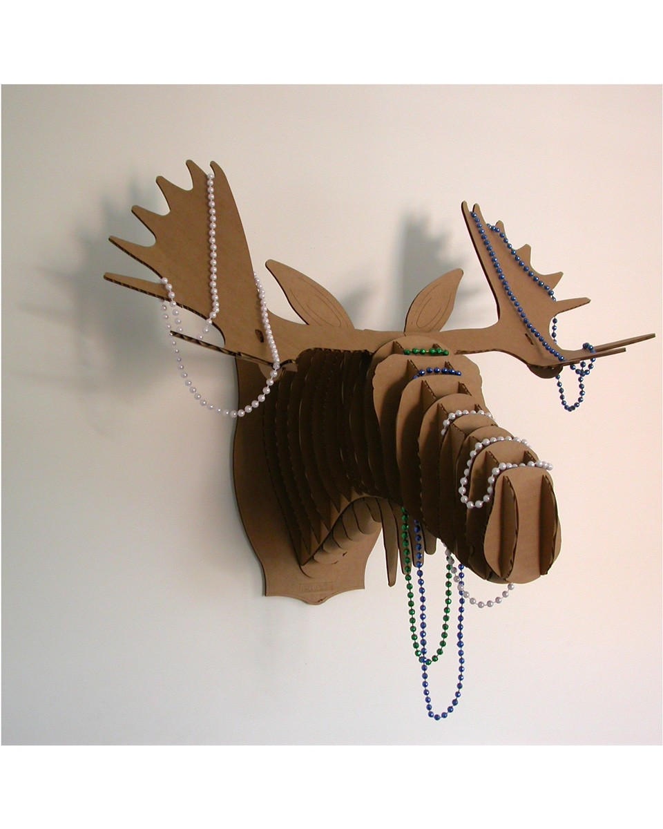 Fashion home decor via cardboard safari we blog the world - Cardboard moosehead ...