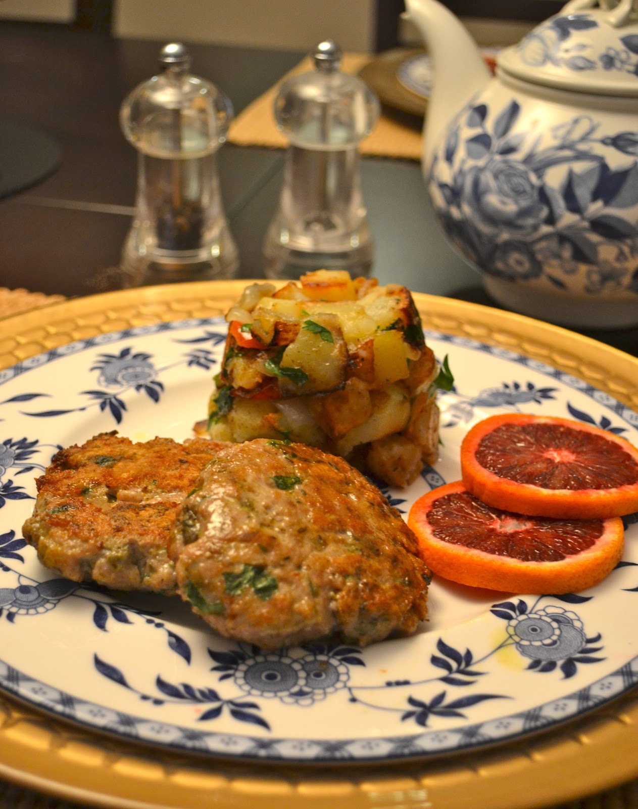 ... : Homemade Turkey Sausage Patties With Potato Hash for Slow Sundays