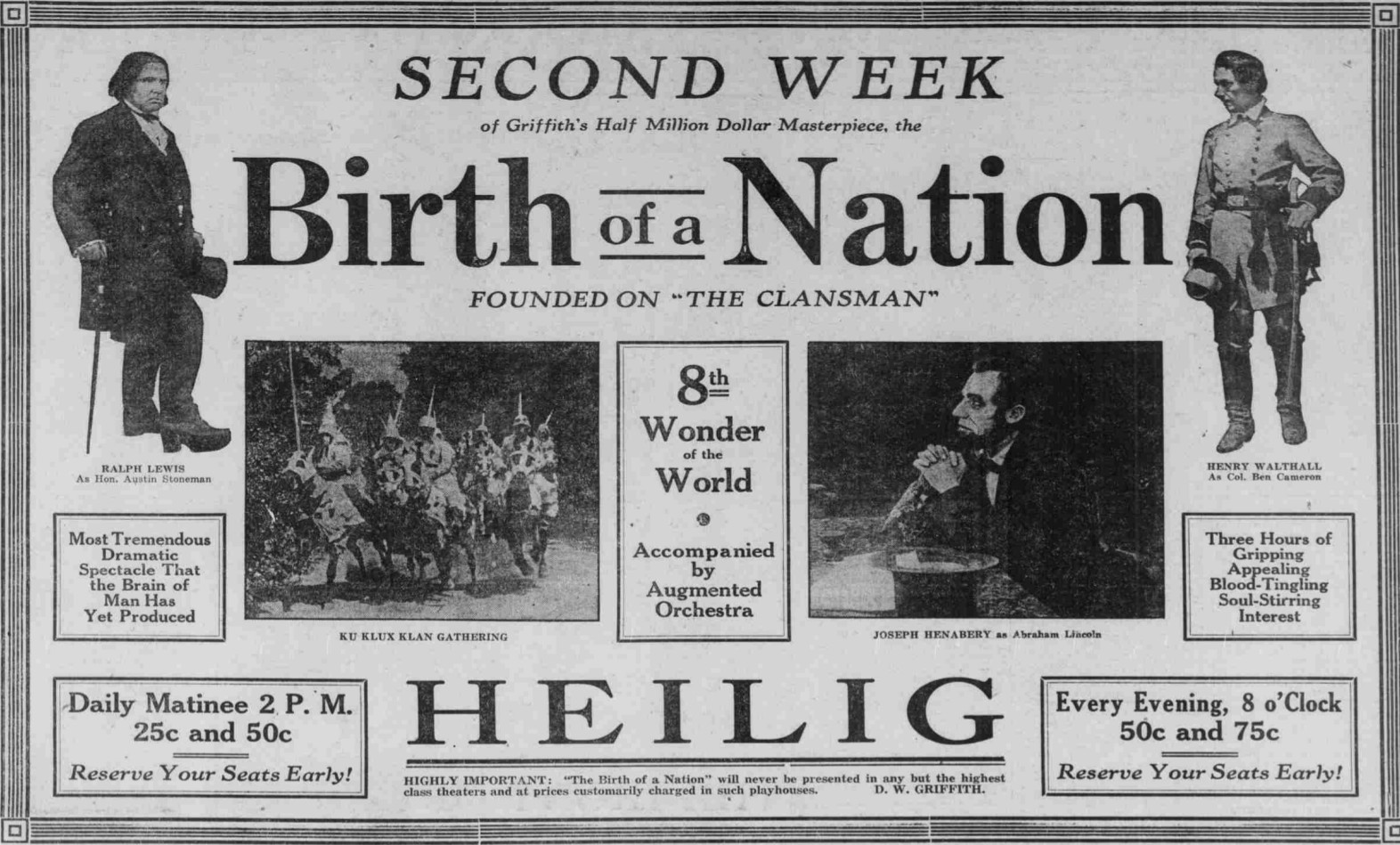 a review of the films the birth of a nation 1915 and greed 1924 Pioneering efforts including georges méliès' a trip to the moon(1902), cecil b de mille's the squaw man (1914) and such dw griffith films as the birth of a nation (1915), intolerance (1916) and orphans of the storm (1921).