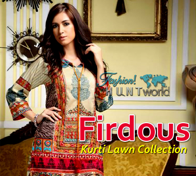 Firdous Fashion Kurti Lawn Collection 2015 Vol-2