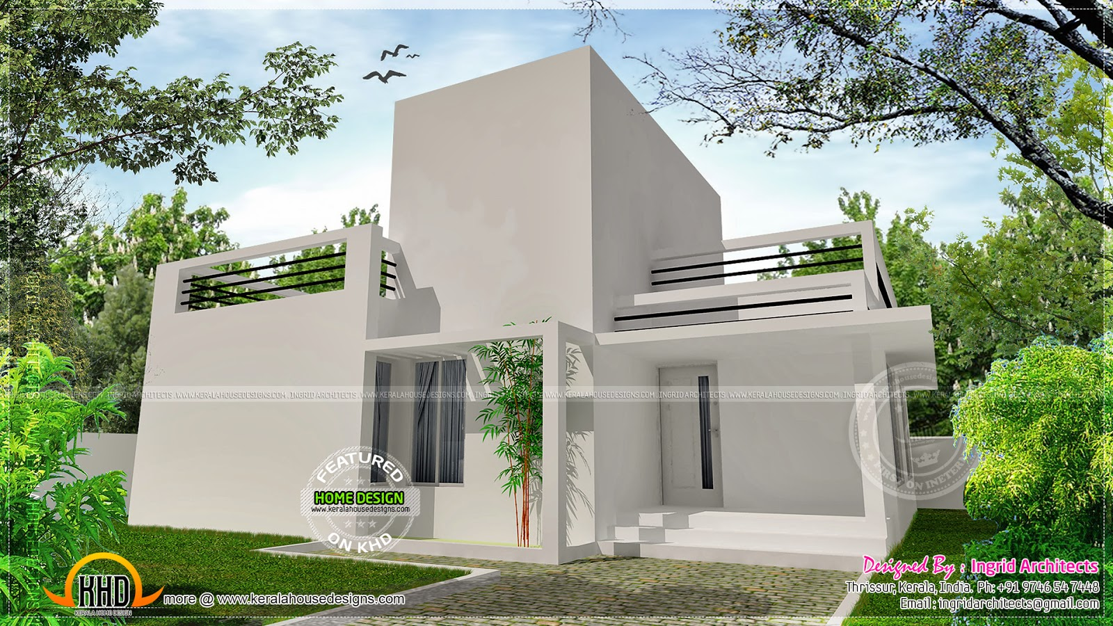 April 2014 kerala home design and floor plans for Small contemporary house plans in kerala