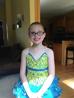 Image: Holly in her tap dance costume for her 2013 variety show performance